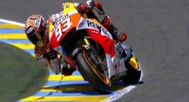 MotoGP, Le Mans, quinta pole di fila per Marquez, funambolo della classe regina