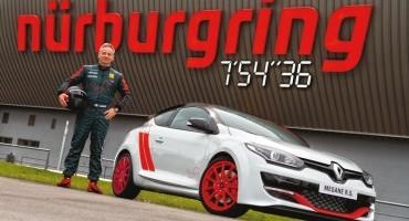 7m54.36s, Renault stabilisce il nuovo record sul giro al Nürburgring con la Mégane R.S. 275 Trophyr