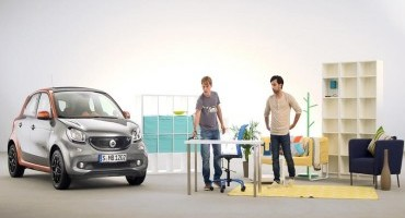 Smart forfour: grande flessibilità degli interni, con misure da piccola fuori, da grande dentro