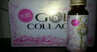 """Per rigenerare la pelle dopo la pausa estiva, """"Pure Gold Collagen"""", integratore liquido al collagene"""