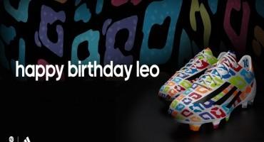 Adidas svela le scarpe create per il 27esimo il compleanno di Messi