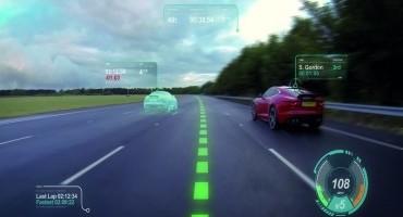 """Jaguar Land Rover: con il """"Virtual Windscreen"""" l'intero parabrezza diventa un display"""