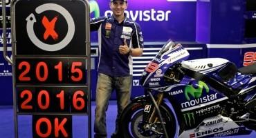 Jorge Lorenzo: firmato contratto con Yamaha per altri due anni