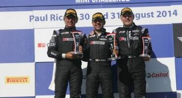 Gianluca Calcagni, 2° in Gara 2 al Paul Ricard è il nuovo campione del Mini Challange 2014