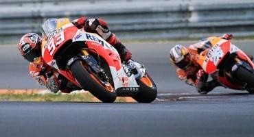 MotoGP, Brno, 2° turno di prove bagnate confermano Marquez, poi Lorenzo e Pedrosa