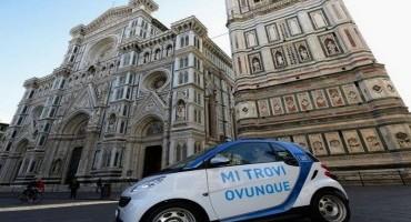Car Sharing, car2go, via libera anche a Firenze, accesso consentito alla ZTL