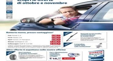 """Bosch Car Service, dal 1°ottobre al 30 novembre """"Promozione visibilità"""""""