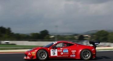 ACI Sport, Italiano GT, Balzan-Benucci (Ferrari 458 Italia) su tutti , a Vallelunga, nella prima sessione di libere