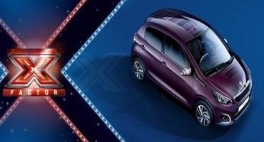 """Peugeot 108, vettura ufficiale di """"X Factor"""", il famoso talent di SKY"""
