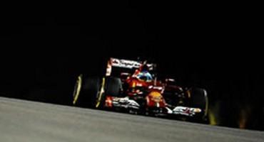Formula1 -GP di Singapore – Scuderia Ferrari: primo e settimo tempo per Fernando e Kimi