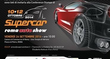 """""""Supercar Roma Auto Show"""", il salone dell'auto sportiva (10-12 Ottobre)"""