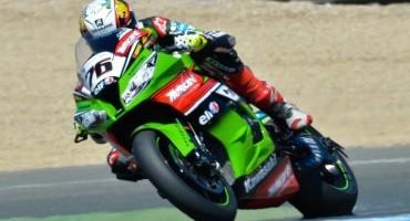 Mondiale SBK, Jerez de la Frontera, la superpole a Loris Baz (Kawasaki Racing), 4° Melandri(Aprilia RSV4)
