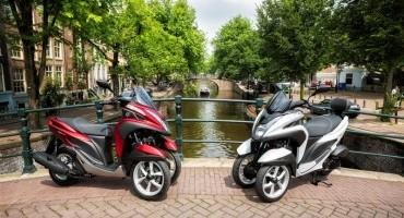 Yamaha Tricity, rivoluzionario veicolo a tre ruote è official scooter di 'The Color Run Milano'