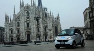 Grande successo del car2go a Milano, 100 le smart in più nella flotta
