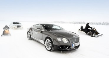 Bentley: la Continental GT3-R ritorna in Finlandia per Power On Ice 2015