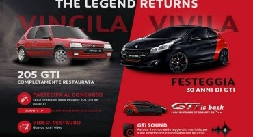 "PEUGEOT: 208 GTi 30th ""The legend returns"" 30 anni dopo"
