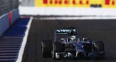 Formula1, GP di Russia: ancora Hamilton, la pole è sua, 2° Rosberg, Ferrari in quarta e quinta fila
