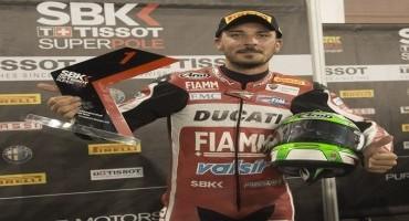 WSBK, Ducati Team, Giugliano centra la pole pole ed è suo il nuovo best lap del circuito di Losail