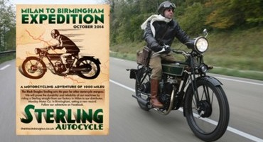 """""""Milan to Birmingham Expedition"""" in sella alla Sterling Autocycle"""