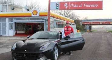 Raikkonen strapazza a Fiorano la F12berlinetta in compagnia di pochi fortunati giornalisti