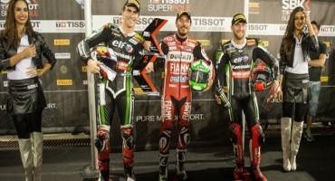 WSBK, Losail, record del circuito e superpole per Davide Giuliano (Team Ducati)