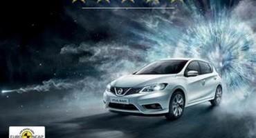 Dopo Qashqai e X-Trail, la nuova Pulsar è la terza vettura Nissan a ottenere il punteggio massimo Euro NCAP nel 2014