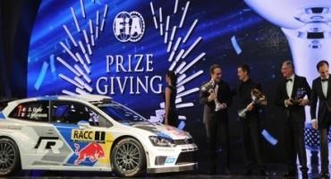 WRC, Volkswagen e Sébastien Ogier ritirano i trofei a Doha