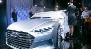 L'Audi prologue in anteprima a Milano all'Audi City Lab