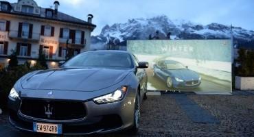 """""""Maserati Winter Tour"""": a Cortina personaggi del cinema e dello sport"""