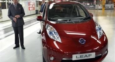 Nissan: Sua Altezza Reale il Principe di Galles visita l'impianto inglese di Sunderland