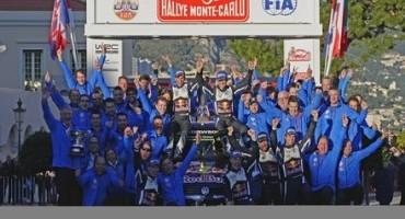 WRC, storica tripletta Volkswagen al Rally di Monte Carlo