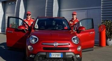 Kimi e Sebastian sulla Fiat 500X