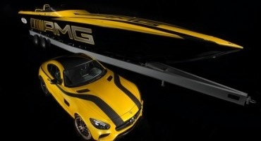 Mercedes-AMG and Cigarette Racing at the Miami International Boat Show