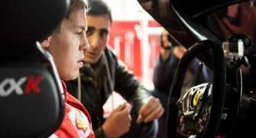 """""""Mamma mia"""", l'esclamazione di Sebastian Vettel al volante della FXX K provata a Fiorano"""