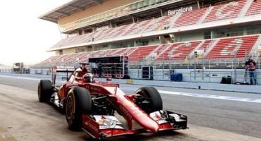 Formula 1, Scuderia Ferrari, primo giorno di test sulla pista di Montmelo'