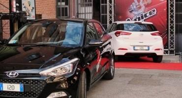 """Nuova Hyundai i20 è l'auto ufficiale del talent """"The Voice of Italy"""" 2015"""