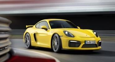 Porsche, la famiglia si allarga con la nuova Cayman GT4