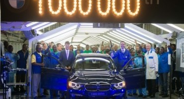 A million times sheer driving pleasure: One-millionth BMW 3 Series Sedan produced at BMW South Africa's Rosslyn Plant