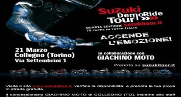 Tutto pronto per i Suzuki DemoRide Tour 2015, disponibili le date