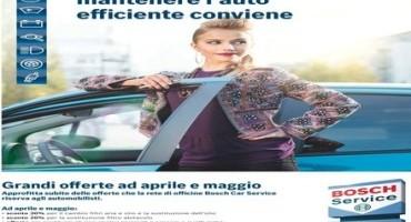"""Bosch Car Service, dal 1° Aprile al 31 Maggio sarà attiva la promozione """"Primavera"""""""