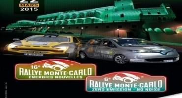 Rally di Montecarlo Zenn 2015: saranno quattro le Renault Zoe presenti