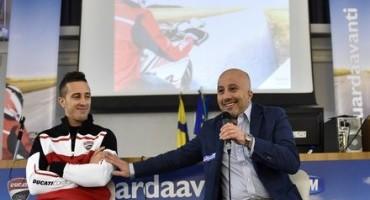 Oggi, a Parma, Andrea Dovizioso è stato testimonial del progetto 'TIM GUARDA AVANTI'
