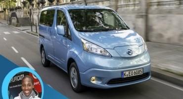 Nissan: la campionessa Fiona May scopre e-NV200 Evalia sette posti