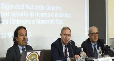 Maserati e Unimore: siglato oggi l'accordo quadro per le attività di ricerca e didattica