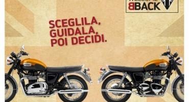 Da Triumph, WelcomeBack: guidi la moto per due anni, poi decidi se tenerla o restituirla