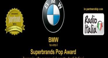 BMW, la marca più amata dagli italiani, vince il Superbrands POP Award 2015