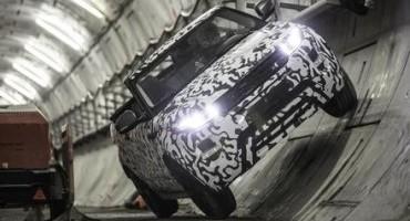 Rover Evoque Convertible: collaudo nel tunnel della linea londinese Crossrail, debutto nel 2016
