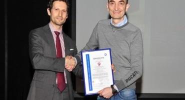 Ducati Motor, ottiene la certificazione ISO 14001 per le attività di Sistema di Gestione Ambientale