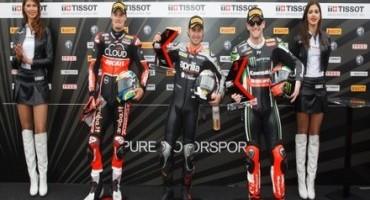 WSBK, MotorLand Aragon: la Tissot-Superpole a Leon Haslam (Aprilia Racing Team – Red Devils), per un soffio su Davies