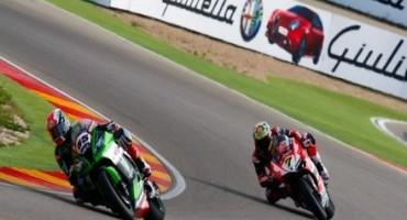 WSBK, Aragon, in volata Jonathan Rea (Kawasaki Racing Team) conquista Gara1 su un coriaceo Davies (Aruba.it Racing – Ducati Superbike Team)